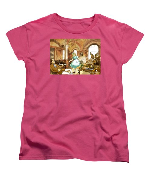 Women's T-Shirt (Standard Cut) featuring the painting Tammy Meets Mr. Scott by Reynold Jay