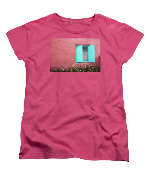 Taos Window I Women's T-Shirt (Standard Cut) by Lanita Williams
