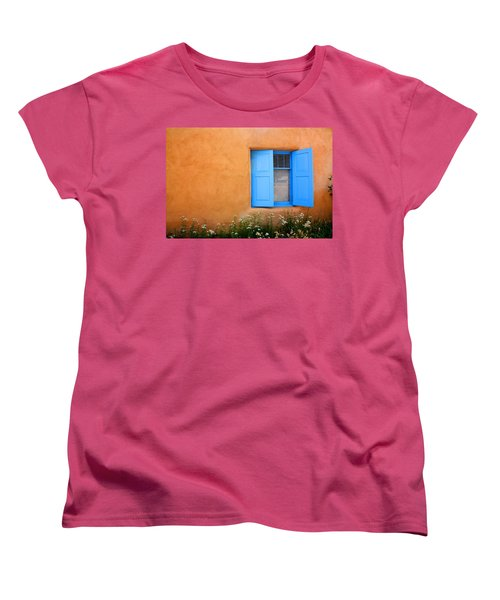 Taos Window V Women's T-Shirt (Standard Cut) by Lanita Williams