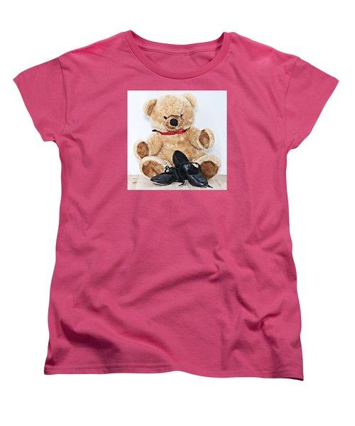 Tap Dance Shoes And Teddy Bear Dance Academy Mascot Women's T-Shirt (Standard Cut) by Pedro Cardona