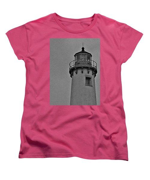 Tawas Point In The Rain Women's T-Shirt (Standard Cut) by Daniel Thompson