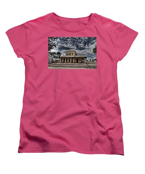 Women's T-Shirt (Standard Cut) featuring the photograph Tel Aviv First Railway Station by Ron Shoshani
