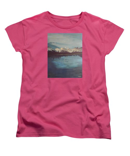 Women's T-Shirt (Standard Cut) featuring the painting Telequana Lk Ak by Terry Frederick