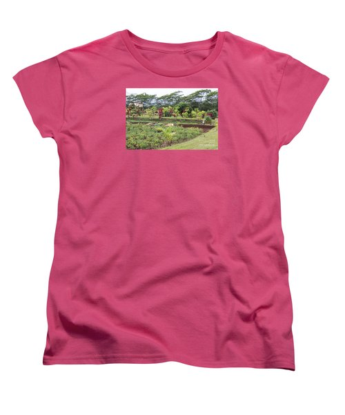 Women's T-Shirt (Standard Cut) featuring the photograph Tending The Land by Suzanne Luft