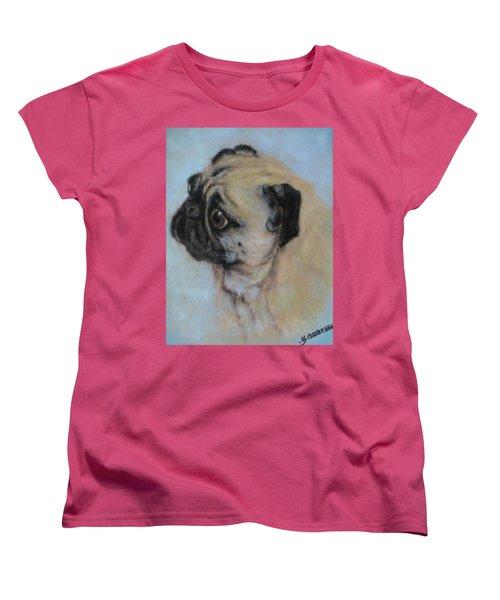 Pug's Worried Look Women's T-Shirt (Standard Cut)