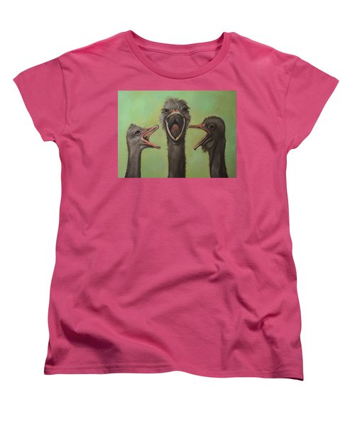 The 3 Tenors Women's T-Shirt (Standard Cut) by Leah Saulnier The Painting Maniac