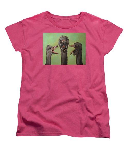 The 3 Tenors Women's T-Shirt (Standard Cut) by Leah Saulnier The Painting Maniac