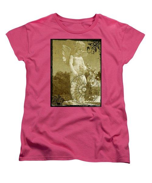 The Angel - Art Nouveau Women's T-Shirt (Standard Cut) by Absinthe Art By Michelle LeAnn Scott