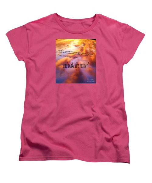Women's T-Shirt (Standard Cut) featuring the photograph The Beauty In Nature by Robin Coaker