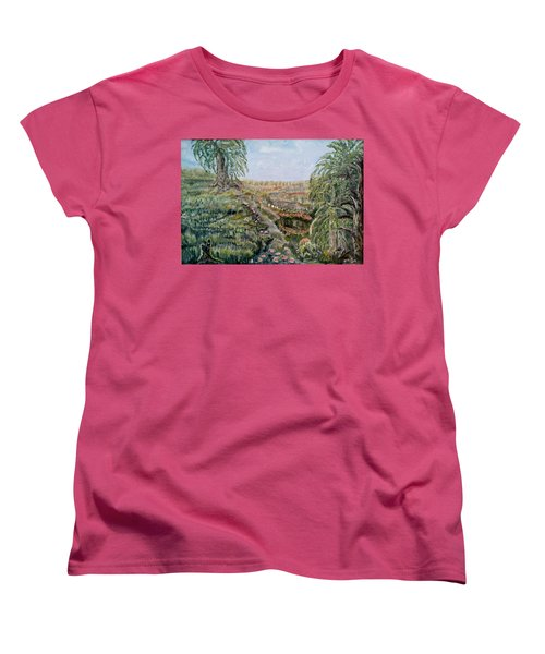 The Beauty Of A Marsh Women's T-Shirt (Standard Cut) by Felicia Tica