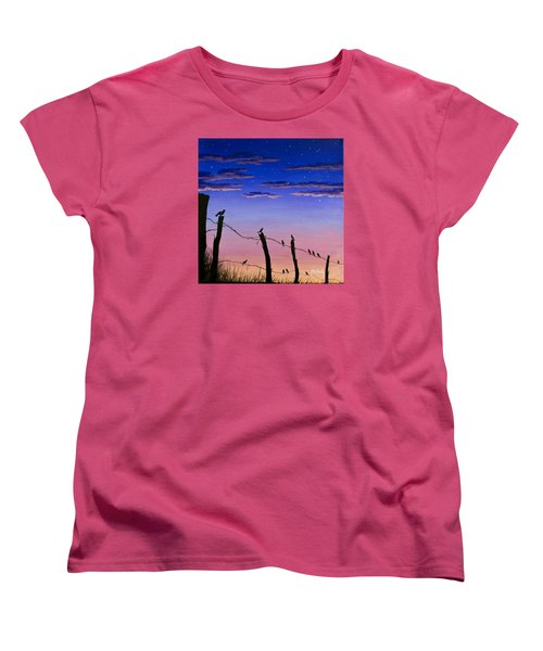 The Birds - Morning Has Broken Women's T-Shirt (Standard Cut) by Jack Malloch
