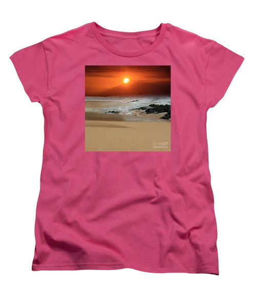 The Birth Of The Island Women's T-Shirt (Standard Cut) by Sharon Mau