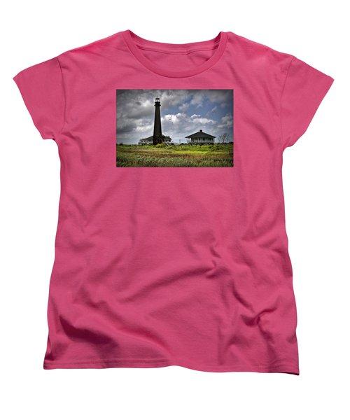 The Bolivar Lighthouse Women's T-Shirt (Standard Cut) by Linda Unger