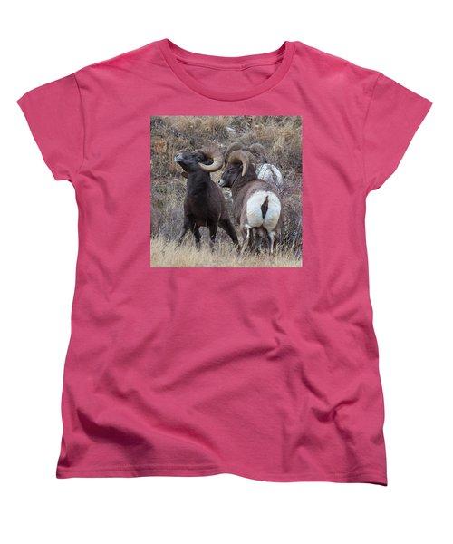 Women's T-Shirt (Standard Cut) featuring the photograph The Boys Club by Jim Garrison
