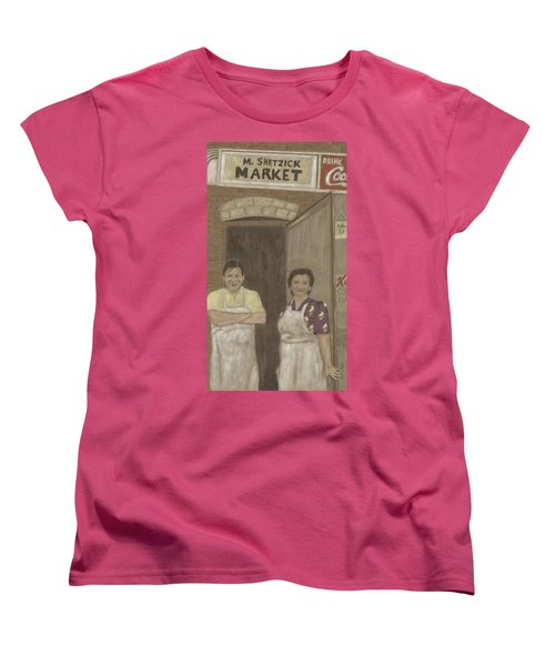 The Butcher And His Wife  Women's T-Shirt (Standard Cut) by Arlene Crafton