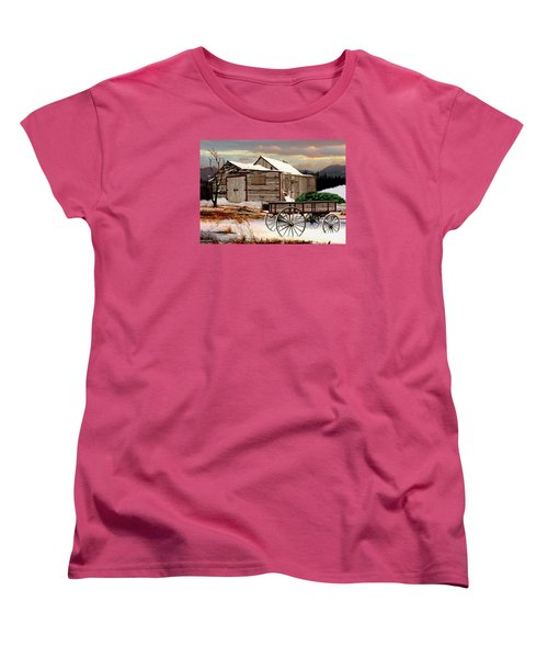 The Christmas Tree Women's T-Shirt (Standard Cut) by Ron and Ronda Chambers