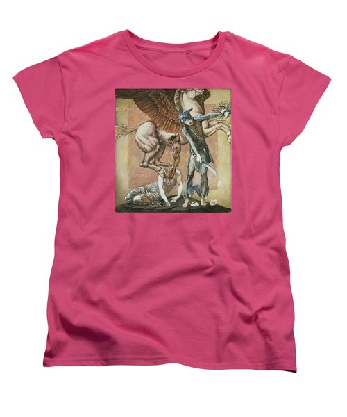 The Death Of Medusa I, C.1876 Women's T-Shirt (Standard Cut) by Sir Edward Coley Burne-Jones