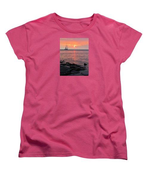 The Edith Becker Sunset Cruise Women's T-Shirt (Standard Cut) by David T Wilkinson