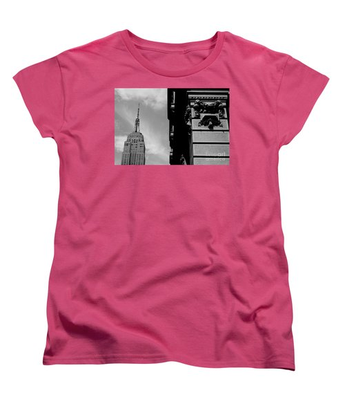 Women's T-Shirt (Standard Cut) featuring the photograph The Empire State Building by Steven Macanka