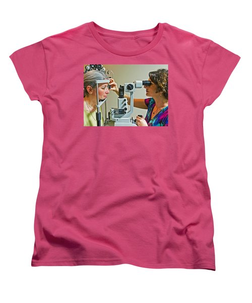 The Eye Doctor Women's T-Shirt (Standard Cut) by Keith Armstrong