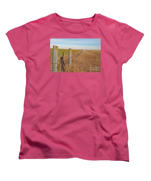 The Fence Row Women's T-Shirt (Standard Cut) by Mary Carol Story
