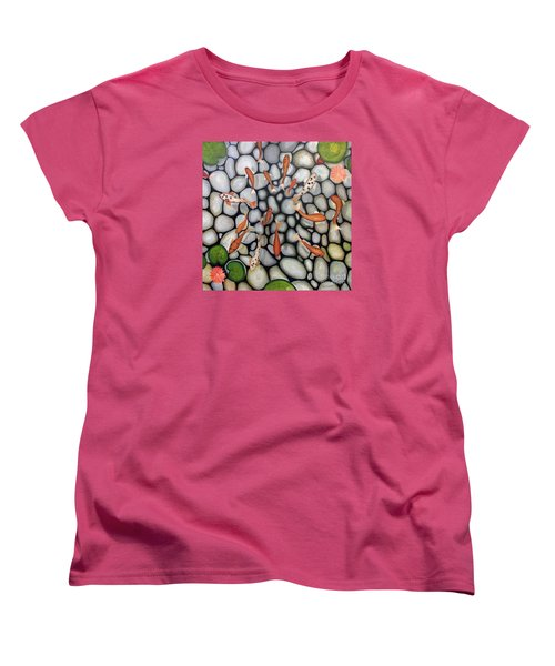 Women's T-Shirt (Standard Cut) featuring the painting The Fish Pond by John Stuart Webbstock