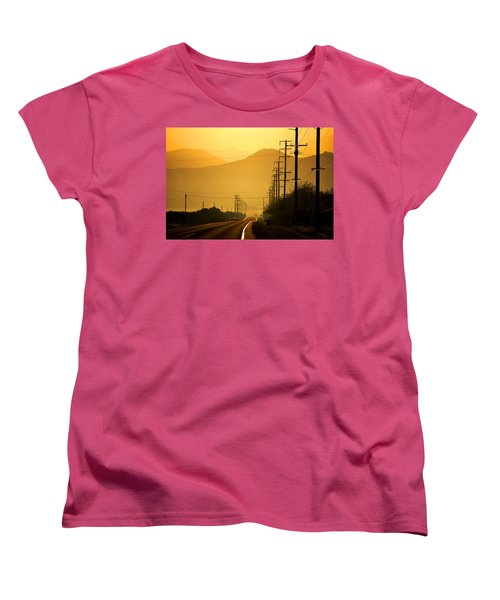 The Golden Road Women's T-Shirt (Standard Cut) by Matt Harang