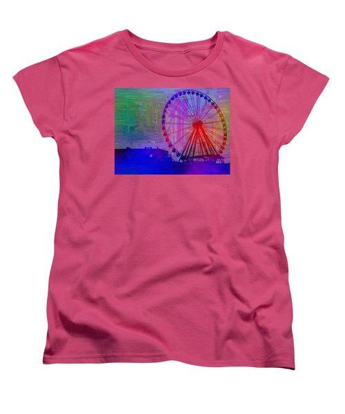 The Great  Wheel Cubed Women's T-Shirt (Standard Cut) by Tim Allen