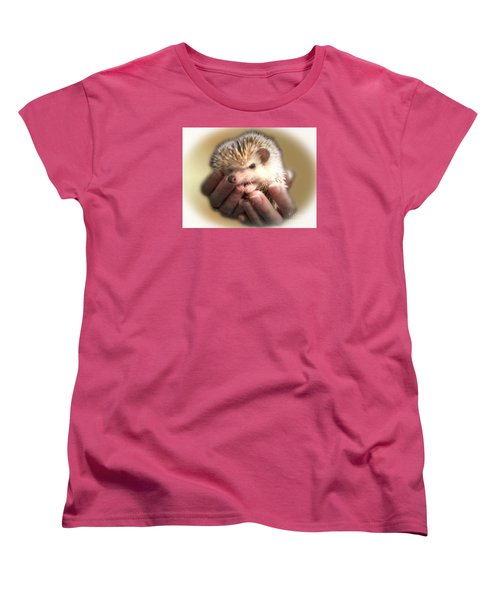 Women's T-Shirt (Standard Cut) featuring the photograph The Hands Who Cares For The Animals  by Donna Brown