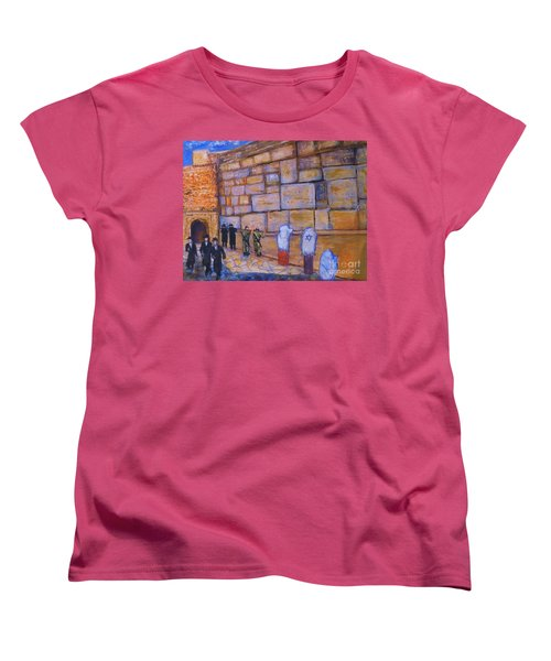 The Kotel Women's T-Shirt (Standard Cut) by Donna Dixon