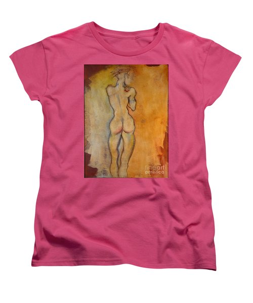 Women's T-Shirt (Standard Cut) featuring the painting The Last Of The Three Wise Men by Carolyn Weltman