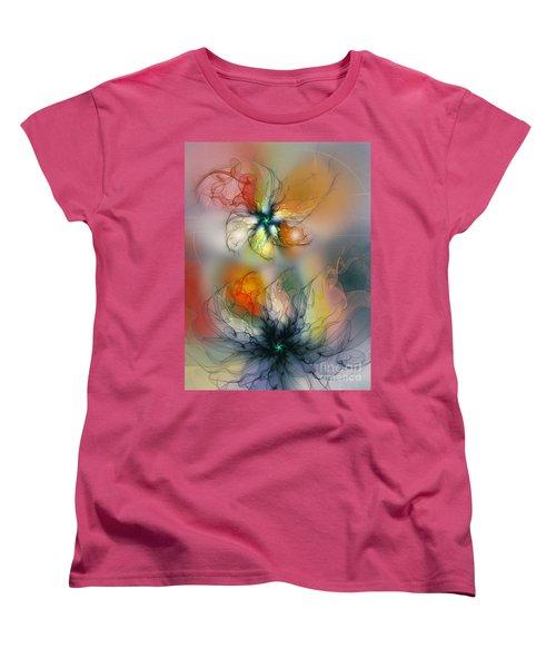 The Lightness Of Being-abstract Art Women's T-Shirt (Standard Cut) by Karin Kuhlmann