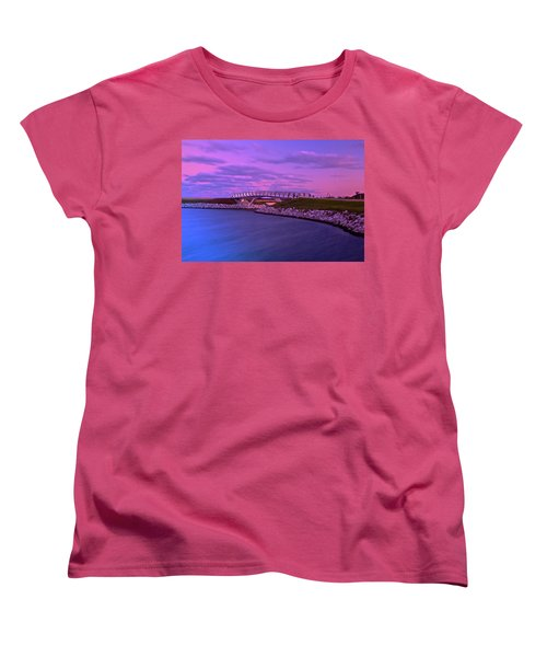 The Lonely Bridge Women's T-Shirt (Standard Cut) by Jonah  Anderson