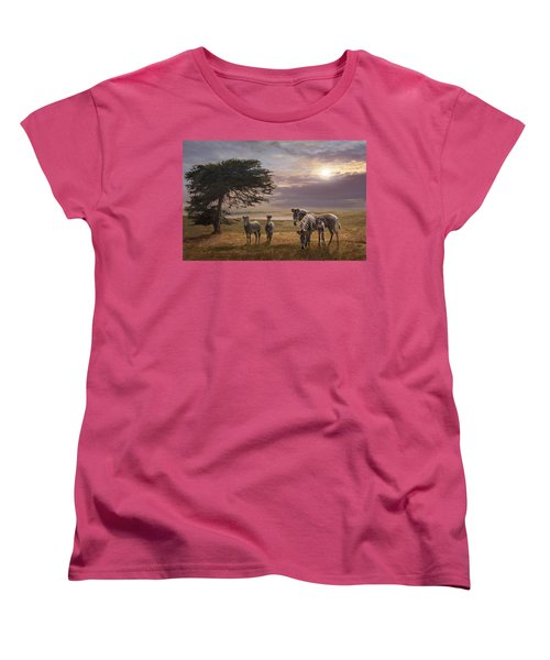 The Mane Event Women's T-Shirt (Standard Cut) by Melinda Hughes-Berland