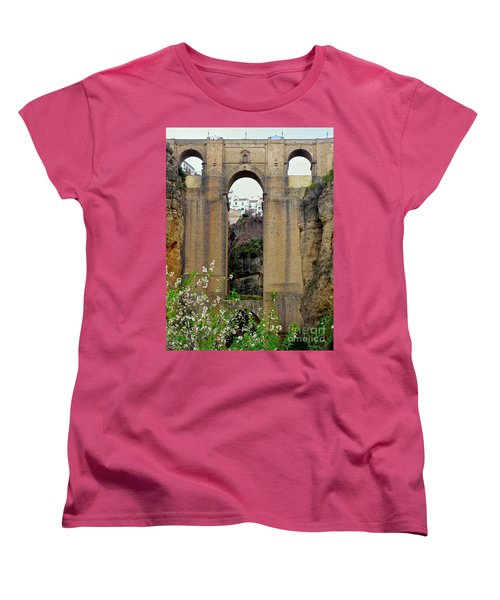 The New Bridge Women's T-Shirt (Standard Cut) by Suzanne Oesterling