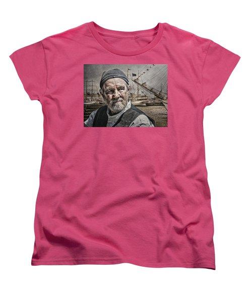 Women's T-Shirt (Standard Cut) featuring the photograph The Old Salt by Brian Tarr
