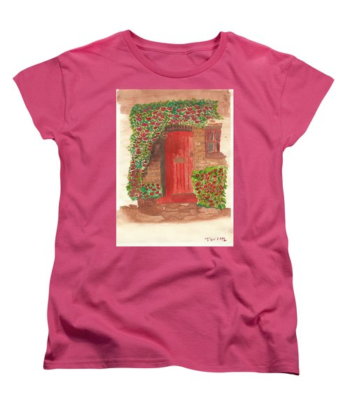 The Orange Door Women's T-Shirt (Standard Cut) by Tracey Williams