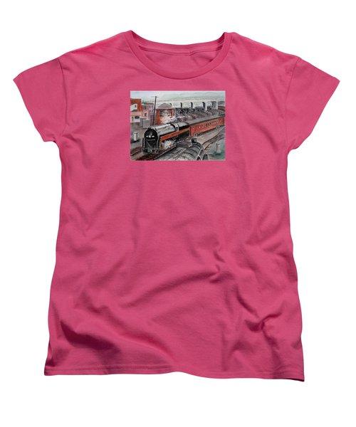 The Powhatan Arrow Roars Through The Yards Into Portmouth Women's T-Shirt (Standard Cut) by Frank Hunter