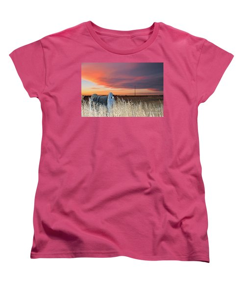 Women's T-Shirt (Standard Cut) featuring the photograph The Prairie by Minnie Lippiatt