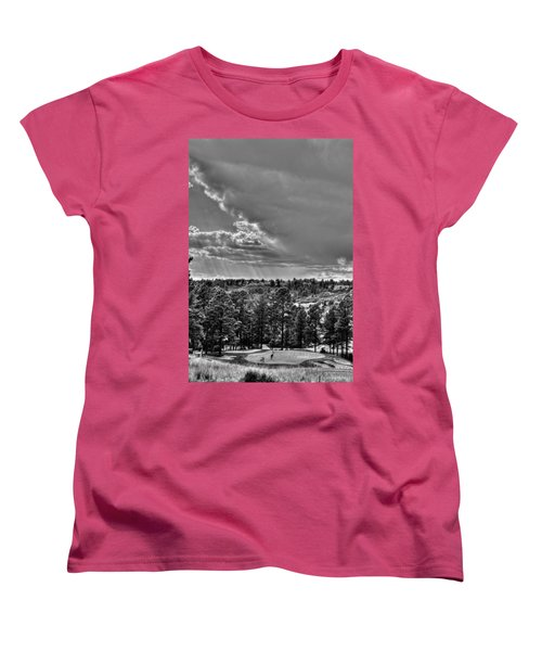 Women's T-Shirt (Standard Cut) featuring the photograph The Ridge Golf Course by Ron White