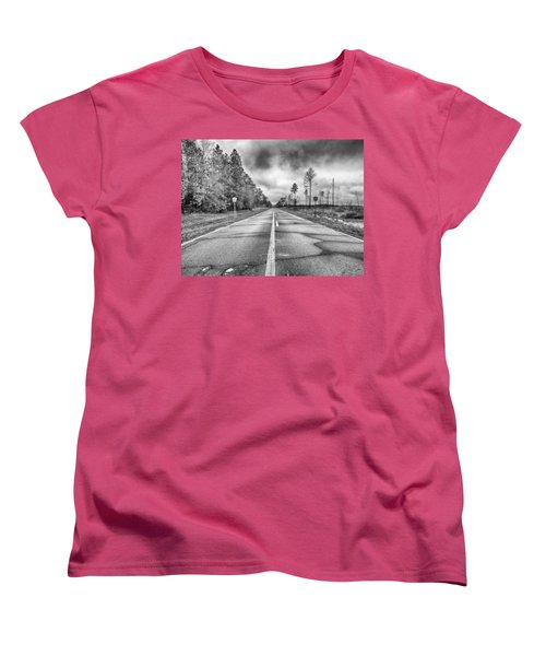 The Road Less Traveled Women's T-Shirt (Standard Cut) by Howard Salmon
