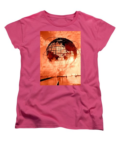 The Unisphere And Fountains Women's T-Shirt (Standard Cut) by Ed Weidman