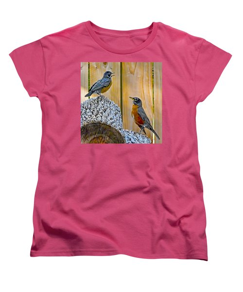 The Voice Lesson Women's T-Shirt (Standard Cut) by Gary Holmes
