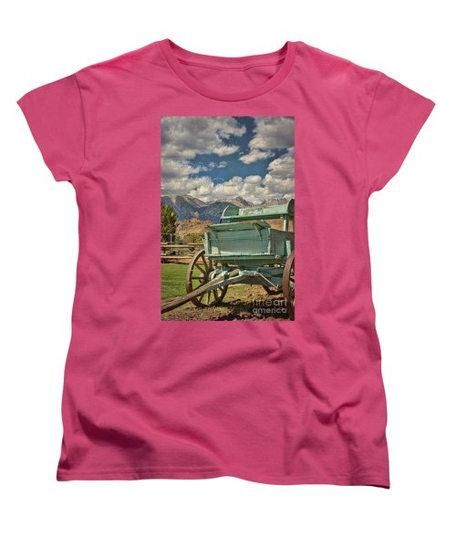 The Wagon Women's T-Shirt (Standard Cut) by Peggy Hughes