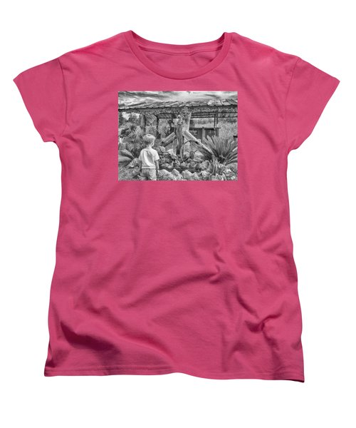 Women's T-Shirt (Standard Cut) featuring the photograph The Watering Hole by Howard Salmon