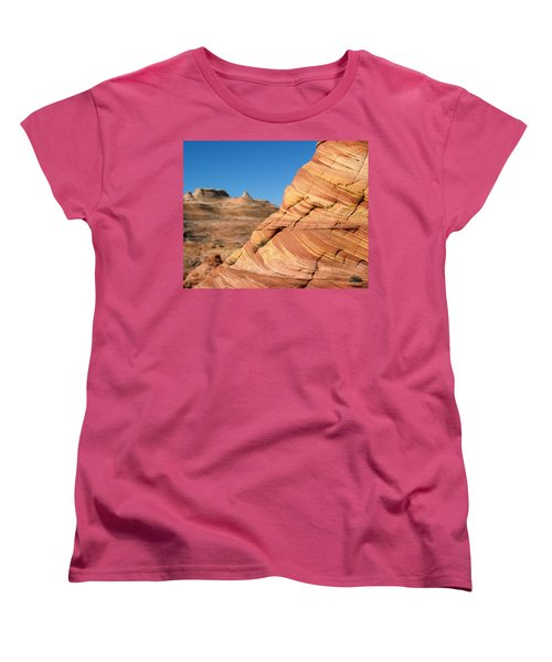 Women's T-Shirt (Standard Cut) featuring the photograph 'the Wave' North Coyote Buttes 13 by Jeff Brunton