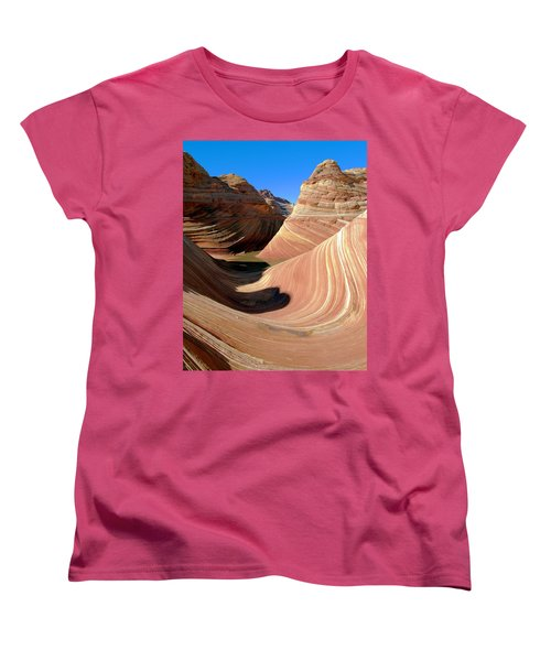 Women's T-Shirt (Standard Cut) featuring the photograph 'the Wave' North Coyote Buttes 19 by Jeff Brunton