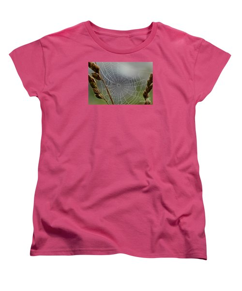 Women's T-Shirt (Standard Cut) featuring the photograph The Web by Kerri Farley