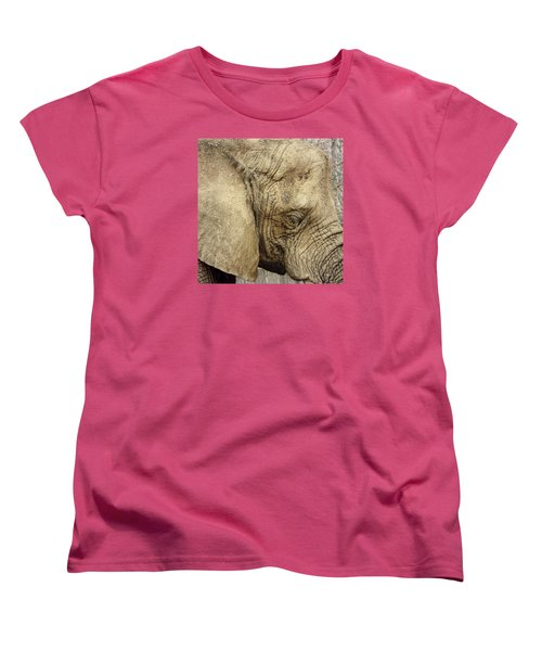 Women's T-Shirt (Standard Cut) featuring the photograph The Wise Old Elephant by Nikki McInnes