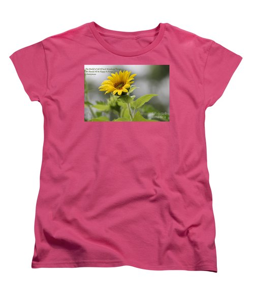 The World Is Full Women's T-Shirt (Standard Cut) by Leone Lund